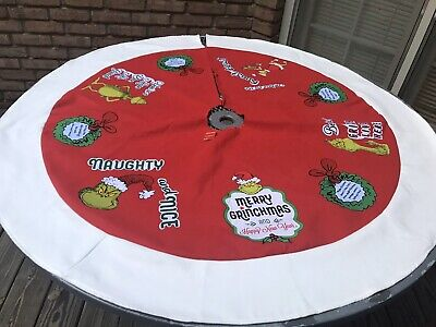 "Seuss The Grinch /""Merry Grinchmas!/"" 48/"" Tree Skirt New Universal Studios Dr"