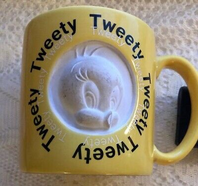 Tweety Warner Bros Mug, Six Flags Large Sized 3D, Vintage Nice