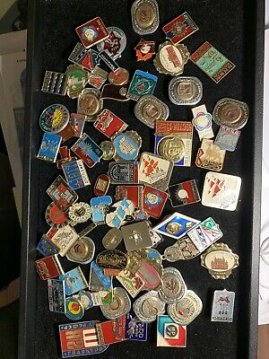 About 50 Vintage Cold War Russian Soviet Union V / Pins