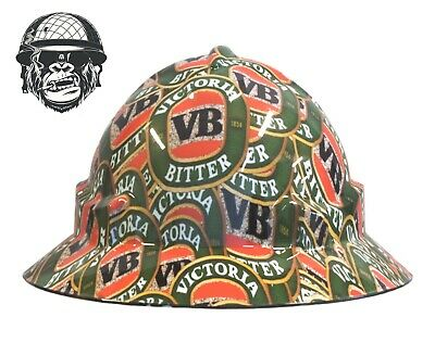 Custom Hydrographic Wide Brim Safety Hard Hats VB WIDE