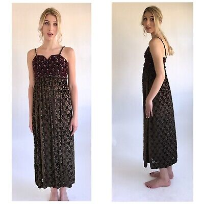 Vintage Galanos Late 50s Early 60s Jeweled Velvet Evening Gown