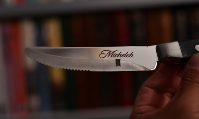 Walco Stainless   Boston Chop Steak Knife  Michelob Beer