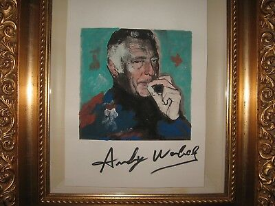 Andy Warhol Gianni Agnelli  Watercolors   Signed By Hand Computer Art