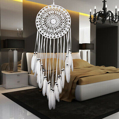 Large Dream Catcher Handmade Feathers Native American Car Dorm Home Decor Gift