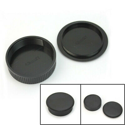 42mm Plastic Front & Rear Cap Cover For M42 Digital Camera Body and Lens Black