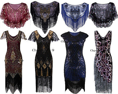 Ladies 20s 1920s Dress Charleston Flapper Gatsby Girls Fancy Dress Party Costume
