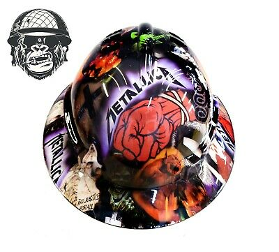 Custom Hydrographic Wide Brim Safety Hard Hats ST. ANGER METALLICA WIDE