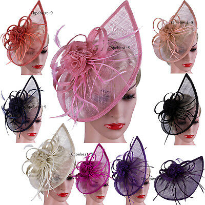 Large Headband Aliceband Fascinator Hat Ladies Day Race Royal Ascot 20s Weddings