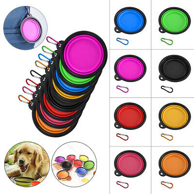 UK Foldable Travel Portable Collapsible Pet Dog Bowl for Food & Water Bowls Dish