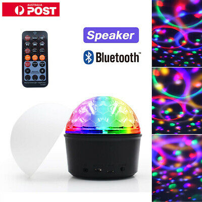 9 Colors Bluetooth Disco Party Stage Speaker LED Lights Crystal Magic Ball Night