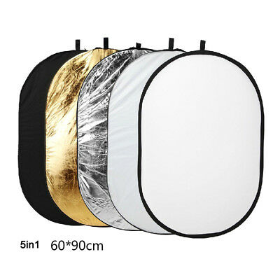 Photography 5 in1 Light Collapsible Portable Photo Reflector 80x120cm DiffuserHT