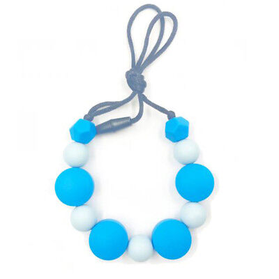 Baby Silicone Teething Soother Bead Infant Dummy Clip Pacifier Chain Chew Toy LI