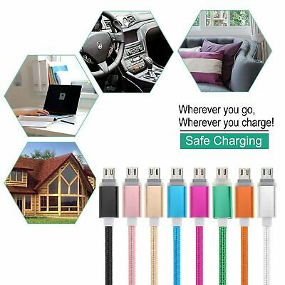 Braided Micro USB Data&Sync Fast Charging Cable For Android Samsung Google Sony