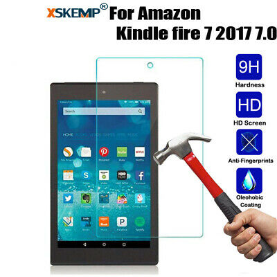 UK Tempered Glass Film Screen Protector For Amazon Kindle Fire 7 2017 2019 2015