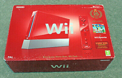 *No Console* Nintendo Wii Box Packaging + Inserts Only Red Super Mario 25Th