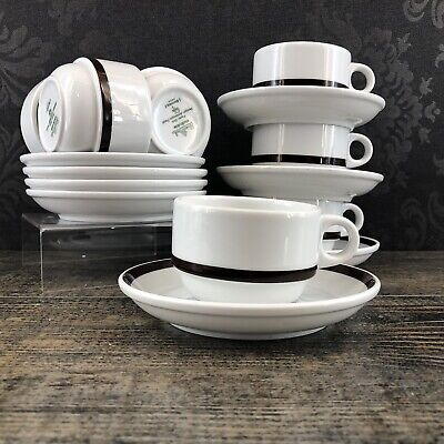 AMBROSIA POZZI by Rosenthal Set Of 4 Cups & Saucer Germany Coffee Tea Vintage