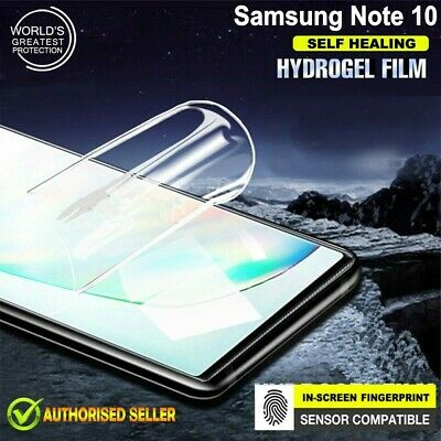 Fr Samsung Galaxy Note 10 10+ Plus Hydrogel Full Coverage Screen Protector Guard
