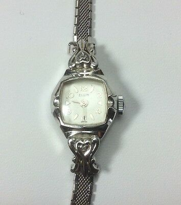 Vintage Ladies Elgin 10k Rolled Gold Plated Bezel Watch - Works Perfect