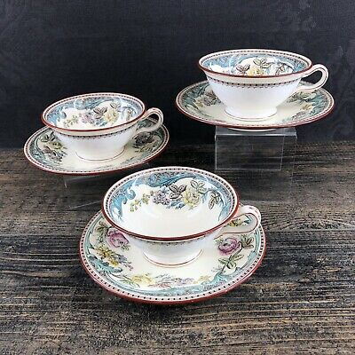 1 Of 3 Avail Antique Mintons Moss Rose Teacups & Saucers England Vintage China