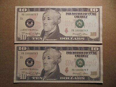 Usa Novelty 10 Notes.(For Motion Picture Use Only)