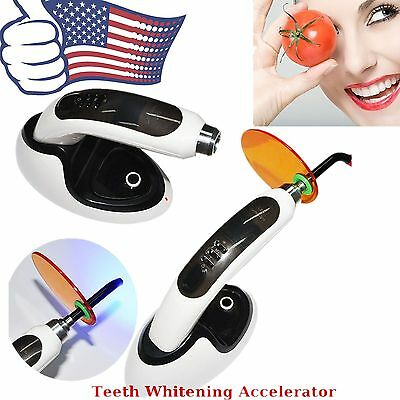 Cordless Wireless 1500MW LED Dental Curing Light Lamp+Teeth Whitening Resin Cure