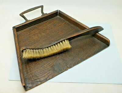 Antique Wooden Dust Pan And Brush Set Table crumb brush set Vintage