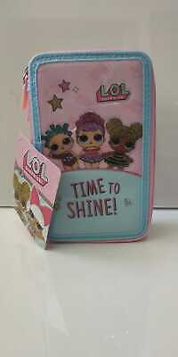 "ASTUCCIO portapastelli SCUOLA LOL SURPRISE 3 ZIP + GIOTTO ""time to shine"""