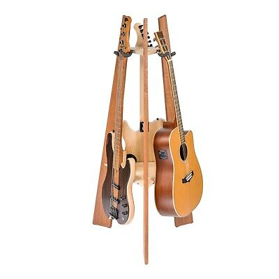 Ruach Wooden 3 Way Multi Guitar Stand Display Rack