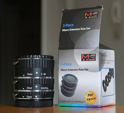 Macro Extension Tubes for Canon EF EF-S, with electronic coupling,Meike brand