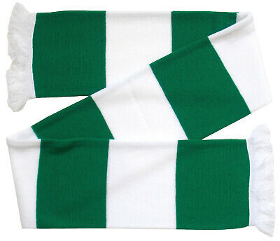 Yeovil Town Supporters Green and White Traditional Bar Scarf - Made in the UK