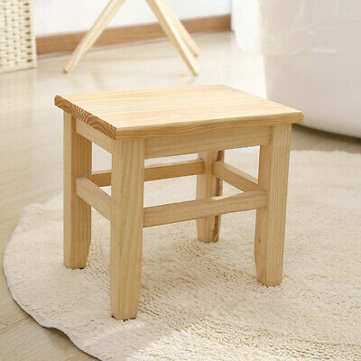 Multipurpose Wood Square Stool Household Low Height Wooden Stool Milking stool