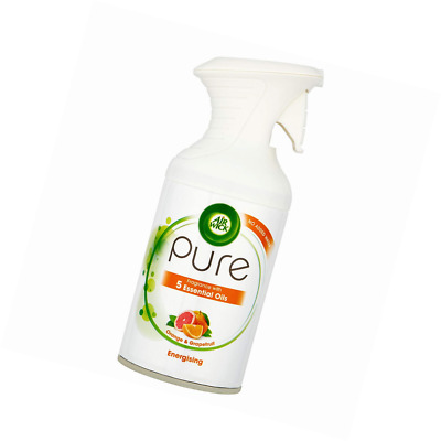 Air Wick Pure Orange & Grapefruit with Essential Oils Energising Freshener, 250