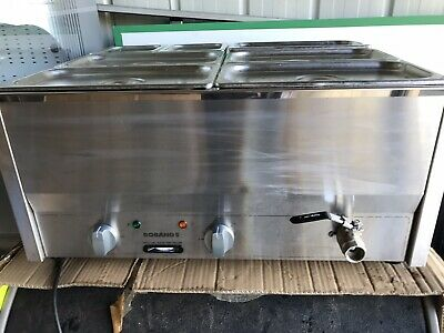 Roband Counter Top Bain Marie BM4 plus SS Steam Pans