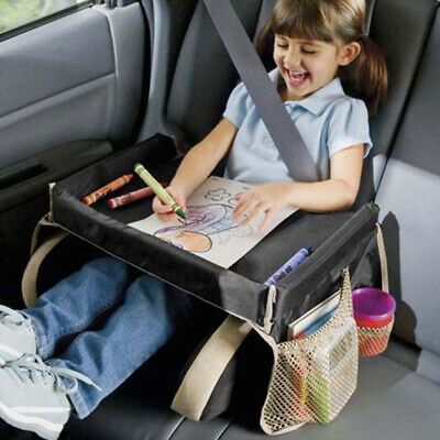 Baby Car Seat Table Kids Play Travel Tray Safety Waterproof Snack/Drawing Board