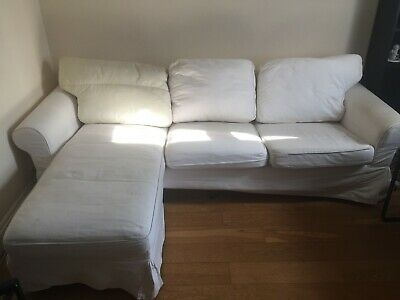 Tremendous Ikea Ektorp 3 Seat Sofa With Chaise Longue In Blekinge White Inzonedesignstudio Interior Chair Design Inzonedesignstudiocom