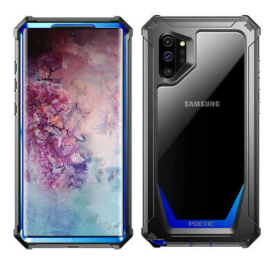 Galaxy Note 10 Plus Case Poetic Full-Body Hybrid Bumper Protector Cover Blue