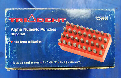 Trident Alpha Numeric Punches 36pc - T253200