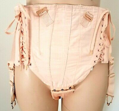 Antique Vintage Maternity Lace Up Corset Girdle with Support Band sz 26