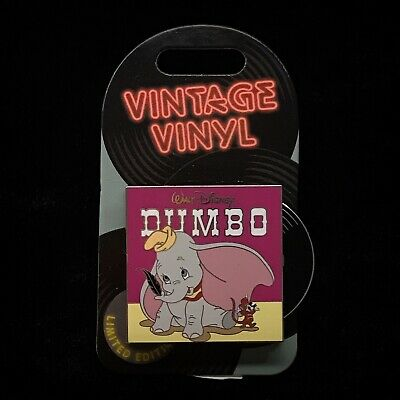 LE Dumbo Elephant Vintage Vinyl Record WDW DLR 2019 Disney Pin of the Month Jan