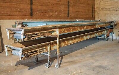 "Haines Potato Produce Stacking Conveyor Belt 24' Long 16"" Wide"