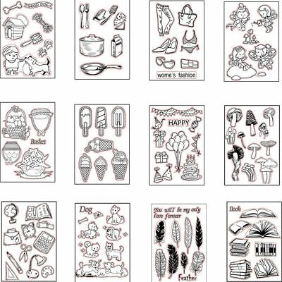 Photo Album Clear Scrapbooking DIY Crafts Silicone Rubber Transparent Stamp