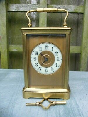 Very good condition French 5 glass gong strike carriage clock
