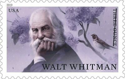 5414 Walt Whitmam Three Ounce (85c) US Single Mint/nh Delivery After 9/15