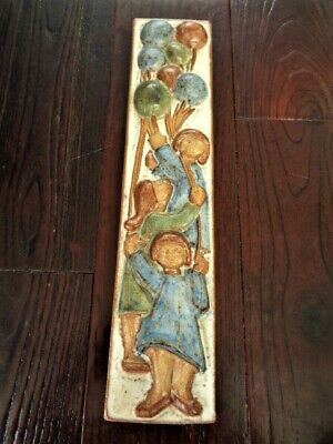 Vintage Michael Anderson & Sons Bornholm Denmark  Art Pottery Wall Placque