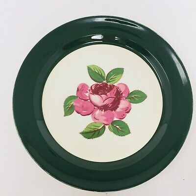 Taylor Smith Taylor Luncheon Serving Plates - Lauree Shape USA Rose Pattern