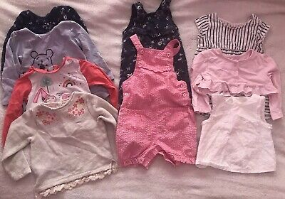 Lovely Bundle Of Baby Girls Clothes Age 9-12 Months