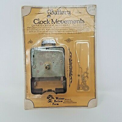 "Walnut Hollow Battery Clock Movement Quartz Crystal GT600P for 1/2"" Clock Face"