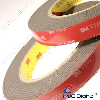 3M™ VHB™ 2.3mm Thick Grey Tape Double Sided Tissue Adhesive EXTREMELY STRONG