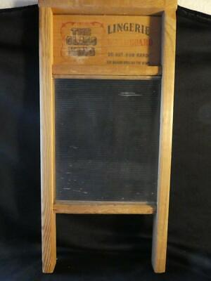 Vintage The Glass King Lingerie Wood Washboard - National Washboard Co. # 863