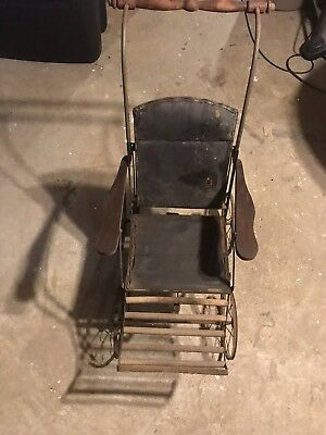 Antique Vtg Child Kids Small Adult Wheelchair Wheel Chair Very Old Rare